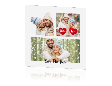 Kerst save the date kaart collage