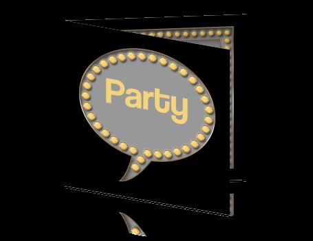 435f90eff1e Hippe uitnodiging voor een feestje