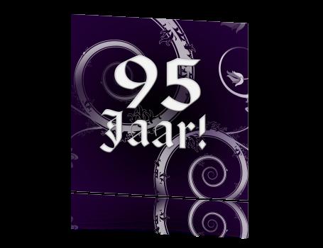 Originele Barok Uitnodiging 95 Jaar