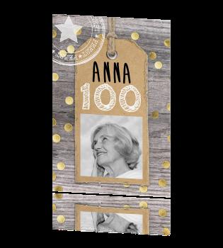 Hippe Uitnodiging 100ste Verjaardag