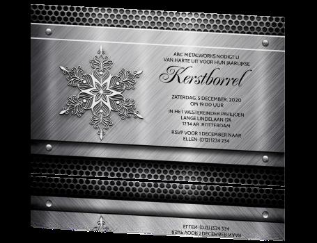 Populair Zakelijke kerst uitnodiging voor kerstborrel bouw bedrijf metaal @BA16
