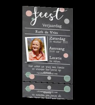 Uitnodiging Verjaardag Met Rose Goud En Zilveren Typografie