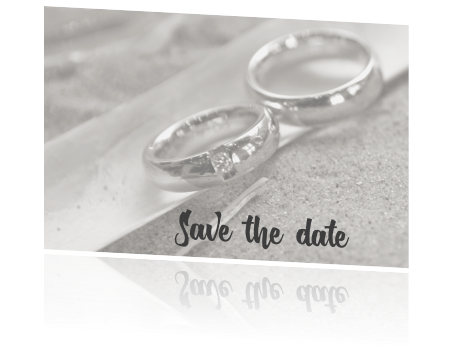 Save the date kaart met foto en typografie