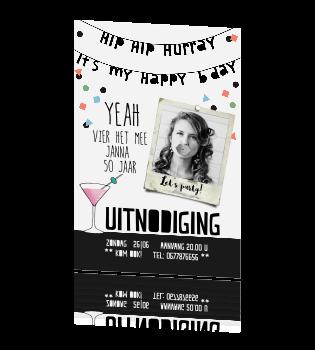Magnifiek Hippe verjaardag uitnodiging 50e verjaardag @OM26