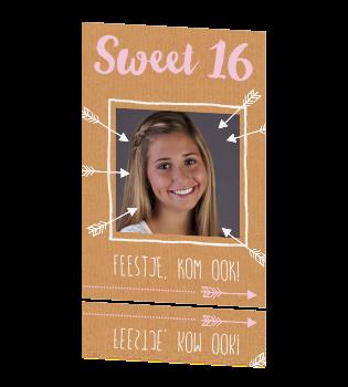 Uitnodiging 16e Verjaardag Met Kraft