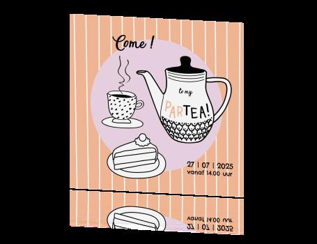 Nieuw Uitnodiging high tea party AS-31