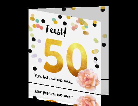 Wonderlijk Verjaardagsfeest uitnodiging 50 jaar goud DT-43