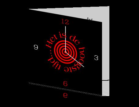 Moderne uitnodiging met klok het is de hoogste tijd - Moderne klok ...