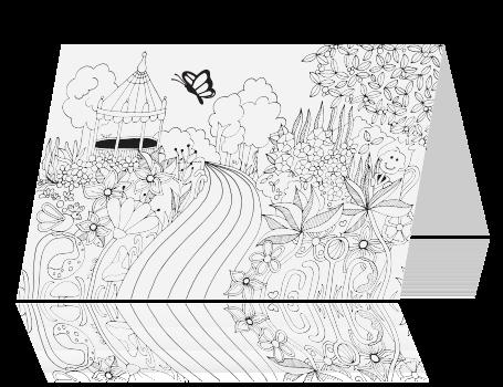 Uitnodiging 12 5 Jaar Getrouwd Kleurplaat Kaart Tuin