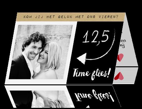 5 jaar getrouwd feest Zwart wit uitnodiging met foto voor een 12,5 jaar getrouwd feest 5 jaar getrouwd feest