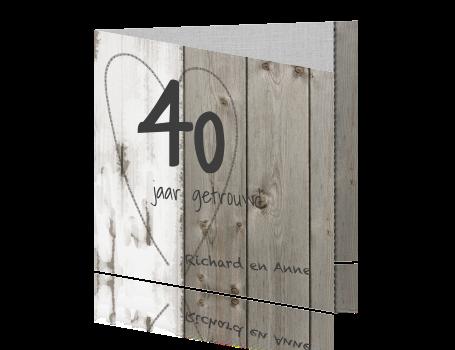 40 Jaar Getrouwd Kaarten Maken Veertig