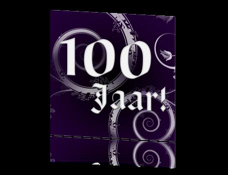 Originele barok uitnodiging 100 jaar