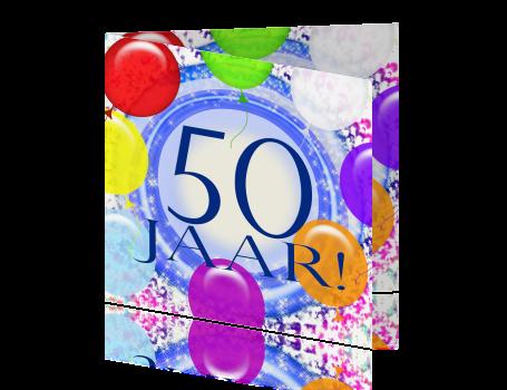 Voorkeur Uitnodigingskaart verjaardag feest 50 jaar #SQ06