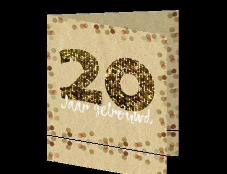Verwonderend Jubileum 20 jaar getrouwd met glitters en confetti AM-82