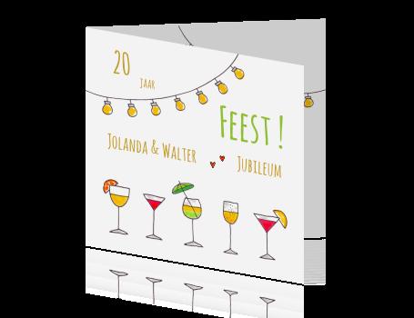 Wonderlijk Huwelijksjubileum 20 jaar cocktails lampen ZJ-85