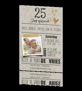 kaarten 25 jaar getrouwd uitnodiging Voorbeeldkaarten 25 Jaar Getrouwd   ARCHIDEV kaarten 25 jaar getrouwd uitnodiging