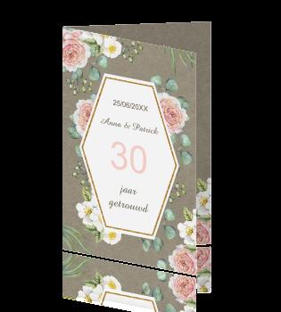 30 jarig huwelijksjubileum Uitnodiging 30 jarig huwelijksjubileum rozen 30 jarig huwelijksjubileum