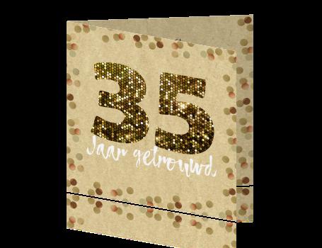 jubileum 35 jaar getrouwd met glitters en confetti