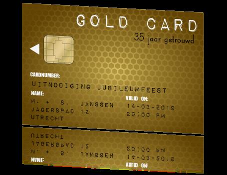 uitnodiging 35 jaar getrouwd gold card