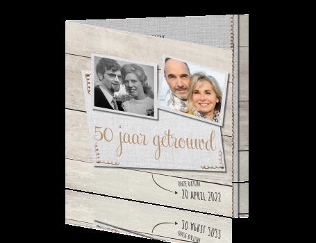 uitnodiging 50 jarig jubileum Hout uitnodiging feestje 50 jaar huwelijk uitnodiging 50 jarig jubileum