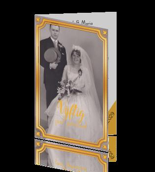 Uitnodiging 50 jaar getrouwd met jaartal en oude foto - Jaar oude meisje kamer foto ...