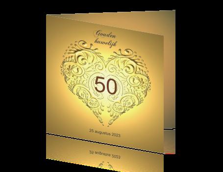 Populair 50 jaar getrouwd kaarten maken - vijftig &FQ61