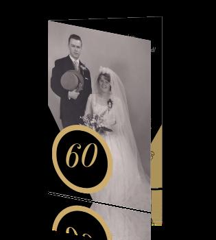 Uitnodiging 60 jaar getrouwd met jaartal en oude foto - Jaar oude meisje kamer foto ...