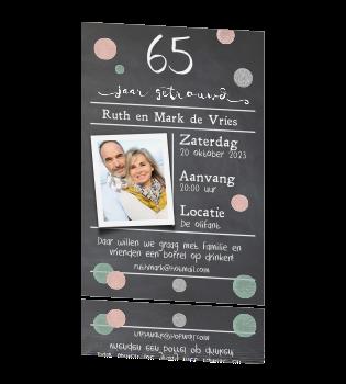 uitnodiging 65 jaar Uitnodiging 65 jaar met rose goud en zilveren typografie uitnodiging 65 jaar