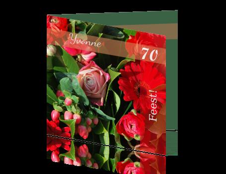 Geliefde Verjaardag 70 jaar kleurrijke bloem #QJ-84