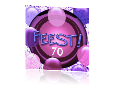 Populair Verjaardag feestje 70 jaar paarse met ballon SM-24
