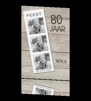 uitnodiging 80 jaar Uitnodiging 80 jaar met filmrol wit voor een verjaardag feest uitnodiging 80 jaar