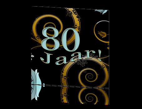 Uitnodiging maken 80 jaar