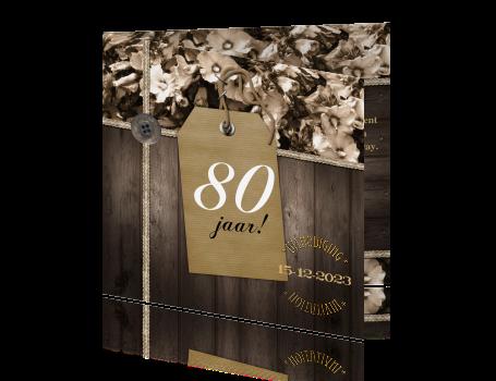 Voorkeur 80 jaar uitnodiging maken - tachtig &UI64