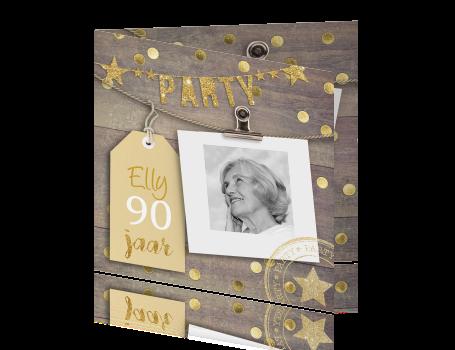 Wonderbaarlijk Uitnodiging verjaardag 90 jaar HU-96