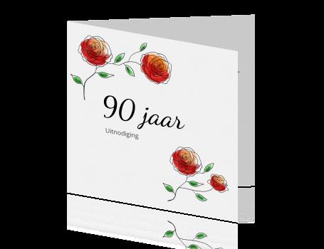 Iets Nieuws 90 jaar uitnodigingskaarten maken - negentig jaar &IT44