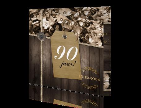 Bedwelming 90 jaar uitnodigingskaarten maken - negentig jaar @SB18