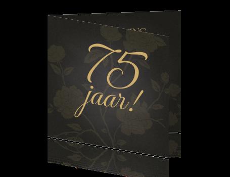 Stijlvolle Krijtbord Uitnodiging Vrouw Verjaardag 75 Jaar